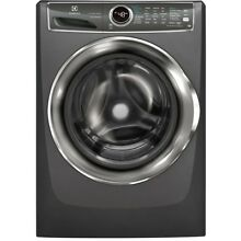 4 4 cu  ft  Front Load Washer with SmartBoost Technology Steam in Titanium  ENER