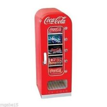 COCA COLA MINI FRIDGE Retro Small Beer Dorm Office DRINK COOLER MACHINE Car Can