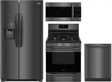 Frigidaire Gallery Series 4 Piece Kitchen Appliances Package Black
