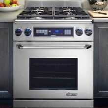 Dacor ER30DSRSCH NG   4 Sealed 18 000 BTU Pro Style Dual Fuel Range Stainless
