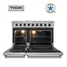 Thor Kitchen 48 inch Gas Range 2 Ovens 6 burners Cooker Stainless Steel