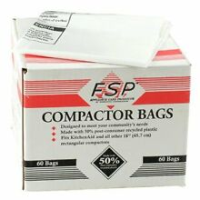 Kenmore Sears 60 Whirlpool Trash Compactor Bags Compatible with Kenmore 18