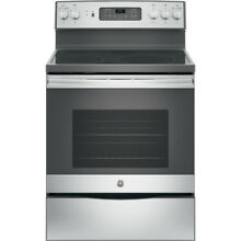 GE Smooth Surface Stainless Steel 5 3 cu ft Self Cleaning Electric Range