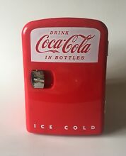 Coca Cola Retro Personal Fridge   New in box   holds 6 cans  DC or AC power