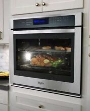 New Whirlpool 30  5 0 Cu Ft Stainless Steel Single Electric Wall Oven WOS97ES0ES