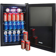 NewAir AB 850 Large Capacity 84 Can Compact Beverage Cooler Drinks Mini Fridge