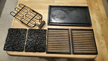 Jenn air Range Grill Burner With Grates  Lava Rocks And Griddle Used