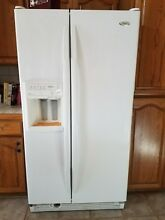 ESTATE WHIRLPOOL GOLD SIDE BY SIDE REFRIGERATOR  GD5NHA WATER ICE DISPENSER EXC
