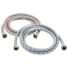 Washing Machine Hose Stainless Steel Braided Water Supply Line   Burst Proof 2