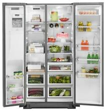 0003438 36  KitchenAid 22 6 cu ft Counter Depth Side by Side Refrigerator with I
