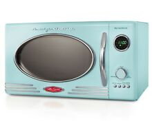 Nostalgia Electrics RMO400RED Retro Series  9 CF Microwave Oven   Blue