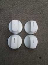 Frigidaire Kenmore Set of 4 White Burner Knobs Part   316240800