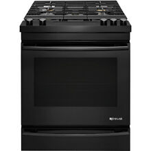 Jenn Air 30  Black Slide In 5 Burner Gas Range JGS1450DB