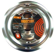 Electric Stove Drip Pans 4Pc Fits GE Range Stoves Replacement Chrome Drip Pan