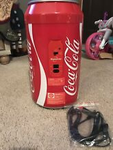Koolatron Coca Cola 8 Can Portable 12V Mini Fridge Hot Cold For Home or Car