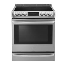 6 3 cu  ft  Slide In Electric Range with ProBake Convection Oven  Self Clean