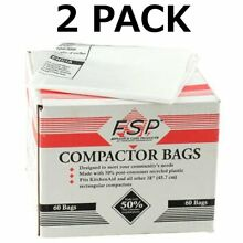Kenmore Sears 120 Whirlpool Trash Compactor Bags Compatible with Kenmore 18