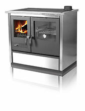 Wood Burning Cook Stove North Stainless Steel   Right flue