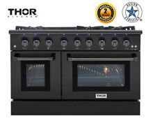 Thor Kitchen 48in Black Stainless Steel Gas Range 6 Burners Cooktop 6 7 cu ft