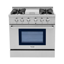 Thor Kitchen Pro style 36  4 Burners   1 griddle Gas Range Stainless HRG3617U