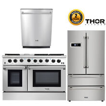 Thor Kitchen 48in Gas Range 2 Ovens  36in Refrigerator  24in Dishwasher Package