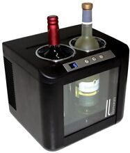 Wine Cooler 2 Bottles Capacity Digital Control Panel Thermoelectric Technology