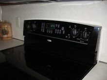 Whirlpool Self Cleaning Electric Range Smooth Top in Black