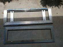 Sub Zero Grill  Frame  Stainless Steel 2 pieces 34 3 8  x 11 1 4  Front part