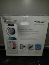 New Whirlpool SKS200 Stacking Kit for Washer   Dryer with Shelf   Hanging Rack