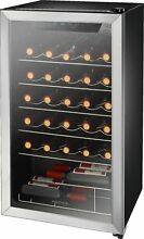 Open Box Excellent  Insignia  29 Bottle Wine Cooler   Stainless steel