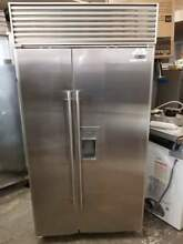 0003681 42  Sub Zero 680 S 23 8 cu  ft  Side by Side Refrigerator stainless stee