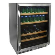EdgeStar CWB8420DZ 24 Inch Built In Wine and Beverage Cooler