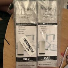 NEW Whirlpool Ice Maker Water Filter   F2WC9I1 ICE2   2Pack Sealed