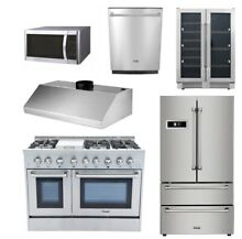 48 GAS Range 48  Hood 22 Microwave oven 36 fridger 24 Dishwasher 24 winecooler