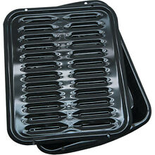 Non Stick Broiler Pan Rack Roasting Broiling Oven Tray Baking Grill Toaster