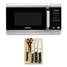 Cuisinart 700 Watt 0 7 Cubic Foot Microwave Oven   Knife Set and Cutting Board