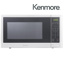 Kenmore 75652 1 2 cu  ft Countertop Microwave Oven White BRAND NEW