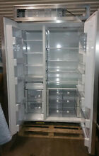 Sub Zero Model BI 48S O 48  Panel Ready Side by Side Refrigerator   Freezer NICE