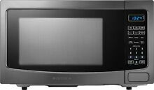 Open Box Excellent  Insignia  1 1 Cu  Ft  Microwave   Black stainless steel