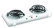 Salton THP 433 Electric Double Coil Cooking Range  White