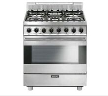 Smeg Classic 30 Inch 5 Burner Natural Gas Range   Stainless Steel   C30GGXU1