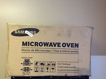 Samsung ME18H704SFB 1 8 cu ft  Over the Range Microwave w  Sensor Cooking  Black