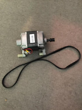 GE used washer motor and belt WH20X10028  WH08X10024