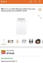 GE  GTW485ASJWS 27 Inch 4 2 cu  ft  Top Load Washer