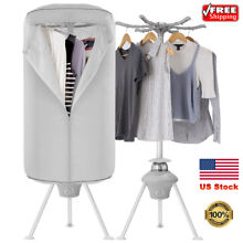 1000W Electric Clothes Dryer Rack Portable Wardrobe Machine Folding Stand Heater