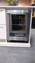 Jenn Air Euro Style 24  SS Under Counter Glass Door Refrigerator JUG24FRERS