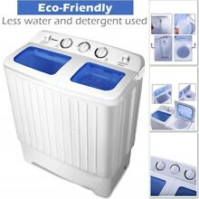 Mini Compact Twin Tub Portable Washing Machine Washer Dryer Spin Spinner Drying