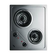 21 in  Coil Electric Cooktop in Stainless Steel with 2 Elements