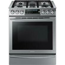NEW Samsung NX58H9500WS Slide In Stainless Gas Range Self Clean All Accessories