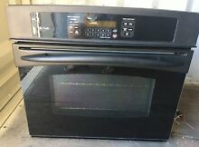GE Profile Series 30  Built In Single Convection Wall Oven Black Used Ships FREE